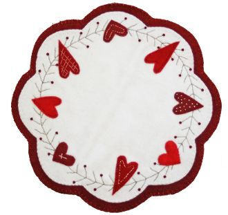 Heart of Mine Wool Mat - Cute for Valentine's Day