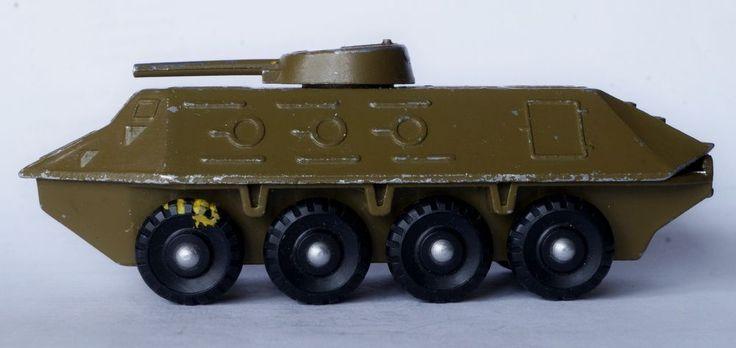 VINTAGE 1970's USSR DIECAST METAL TOY model 1/90 BTR - 60 USSR #USSR