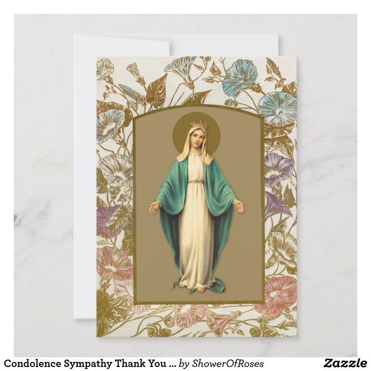 Condolence sympathy thank you catholic mary