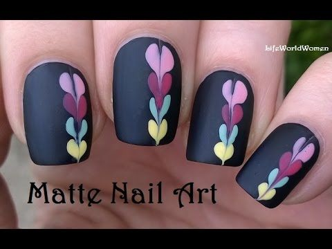 Black Nails With Colorful NEEDLE & DOTTING TOOL Design | AmazingMakeups.com