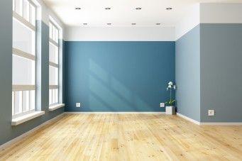 Wohnzimmer und Schlafzimmer in Blau - Wandfarbe