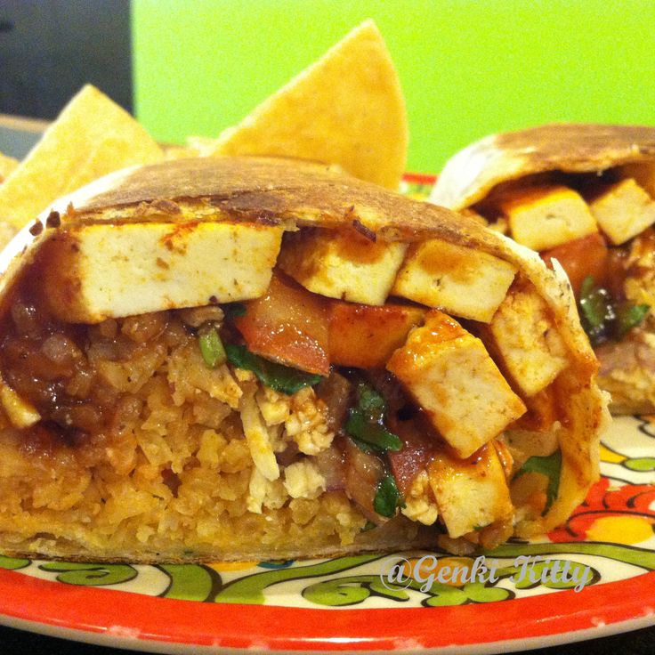 BBQ burrito from Mucho Mas indiana vegan