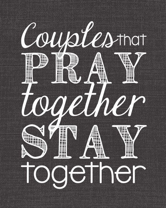 Praying together and staying together couple