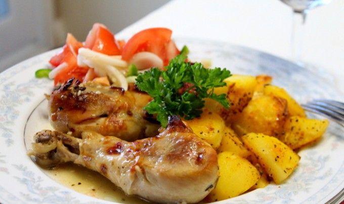 Pečené kuře v řeckém stylu | NejRecept.cz