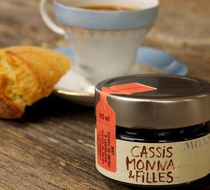 Cassis Monna et Fille - Confiture framboise et crème de cassis   Cassis Monna et Fille - Raspberry & black currant crème jam