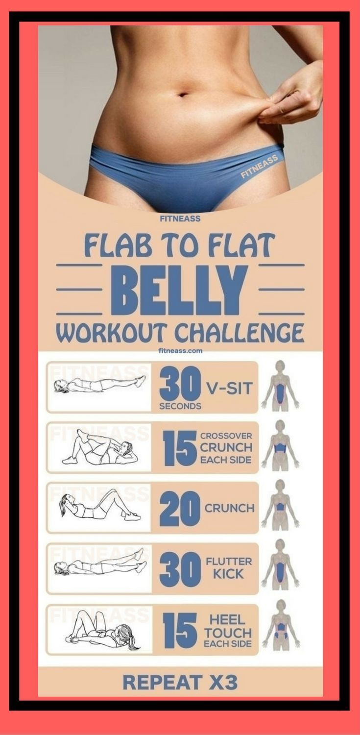 how to make your tummy flat in a week