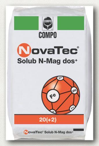 ΥΔΑΤΟΔΙΑΛΥΤΑ ΛΙΠΑΣΜΑΤΑ NovaTec Solub N-Mag Dos+ 20-0-0+2MgO+IXN  Σύνθεση:  20-0-0+2MgO+IXN  Σταθεροποιημένη θειική αμμωνία με μαγνήσιο, σίδηρο και ψευδάργυρο. Κατάλληλο για κάθε καλλιέργεια με υψηλές ανάγκες σε άζωτο. Ιδανικό για δενδρώδεις καλλιέργειες με υψηλές απαιτήσεις των τριών ιχνοστοιχείων.  Συσκευασία: σάκοι των 25 κιλών.