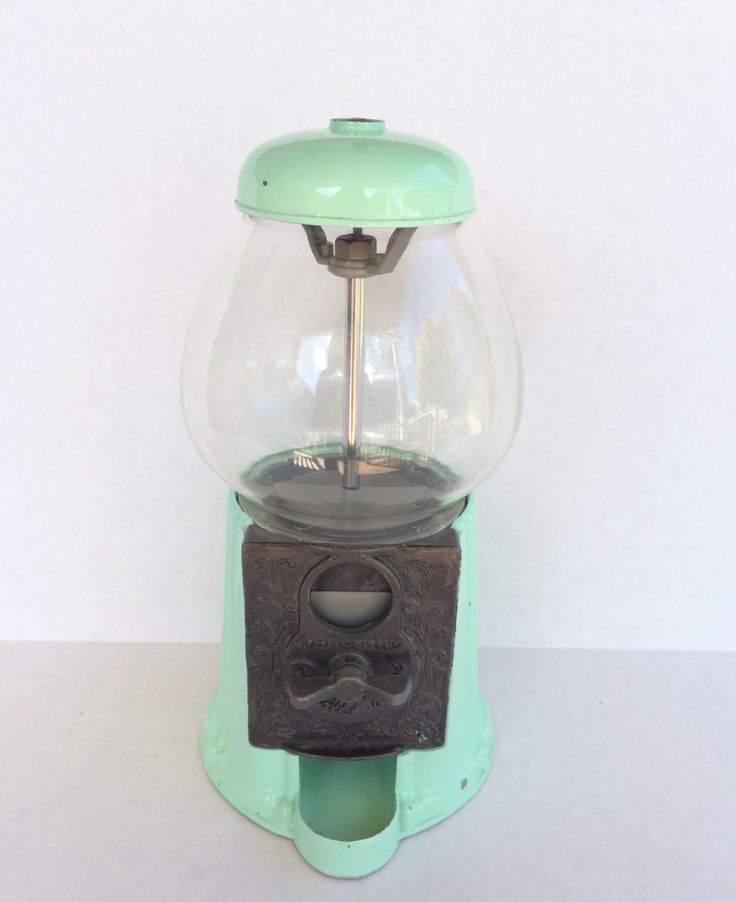 Vintage Gumball Machine - Houston's Mint Green Gumball Machine Dispenser by littlewoodenhouse on Etsy