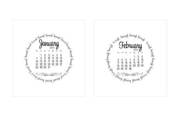 I envy prepared people… 2017 and 2018 calendars