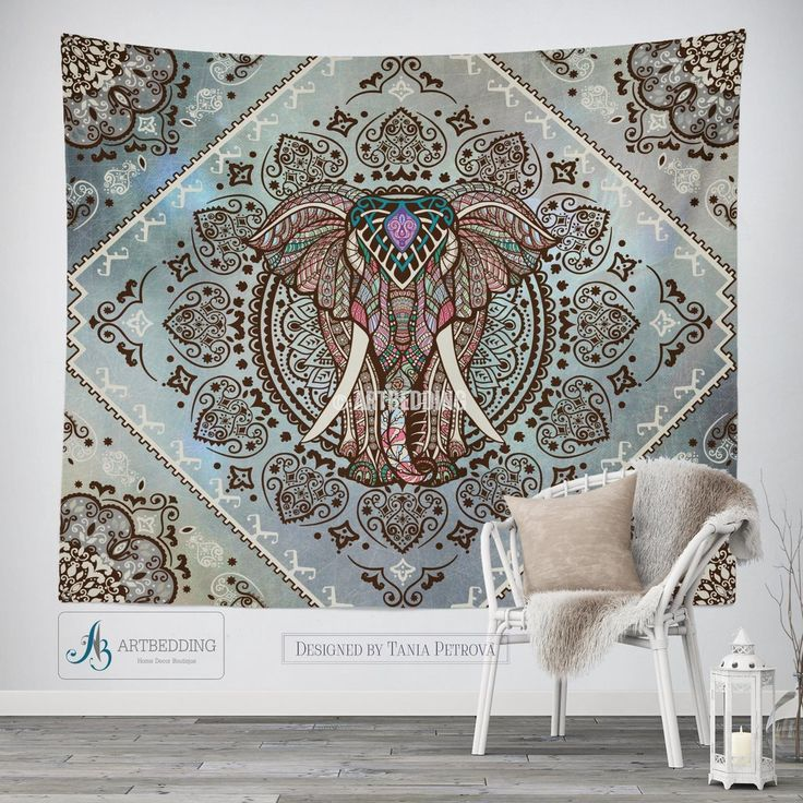 Elephant wall tapestry, Bohemian Tapestry, Hippie tapestry wall hanging, bohemian wall tapestries, Boho tapestries, Ethnic bohemian decor