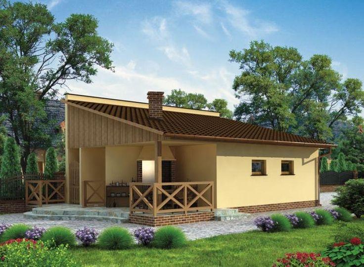 Budynek gospodarczy, wolnostojący. Projekt składa się z części architektonicznej, konstrukcyjnej i wewnętrznej instalacji elektrycznej.