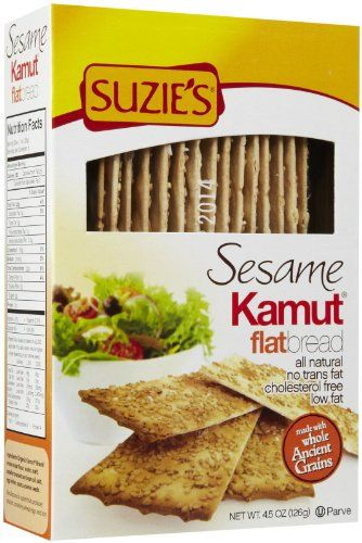Suzie's Flatbreads, Kamut Sesame 4.5 oz. (Pack of 12). Natural or Organic Ingredients. 022929515205. For Any Health Or Dietary Related Matter Always Consult Your Doctor Before Use. Suzies Flatbreads Kamut Sesame 4.5 Oz. (Pack of 12).Note: This Product Description Is Informational Only. Kosher. Always Check The Actual Product Label In Your Possession For The Most Accurate Ingredient Information Before Use. Item Dimensions: 353 weight, 500 width, 200 height, 700 length...