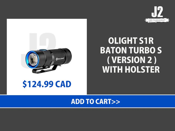 OLIGHT S1R BATON TURBO S ( VERSION 2 ) WITH HOLSTER Shop Now>>https://goo.gl/BwsJjz