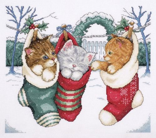 Cross Stitch Kits Holiday Animals