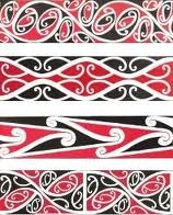 Taniko in maori colours