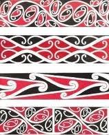 Taniko in maori colours