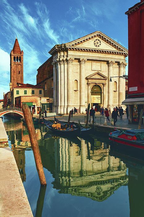 George Westermak Photograph - In The Waters Of The Many Venetian Canals Reflected The Majestic Cathedrals, Towers And Bridges by George Westermak #GeorgeWestermakFineArtPhotography #ArtForHome #FineArtPrints #travel #Italy