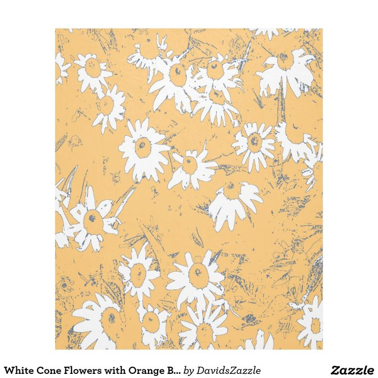 White Cone Flowers with Orange Background Fleece Blanket Available on more products, type in the name of this design in the search bar on my products page to view them all!  #daisy #calendula #shasta #cone #floral #flower #orange #blue #grey #gray #white #pattern #print #all #over #abstract #plant #nature #earth #life #style #lifestyle #chic #modern #contemporary #home #decor #accent #decorate