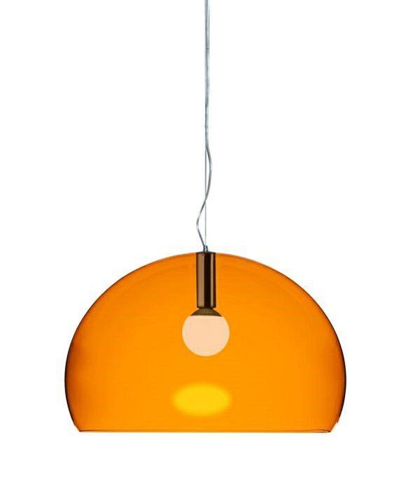 Big Fly Taklampa Orange Kartell | Taklampa, Lampor, Orange