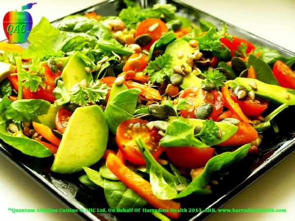 Alkaline Diet, Alkaline Recipes, Alkaline Salads and Lunches, Super Protein, Alkaline Body Builder Salad