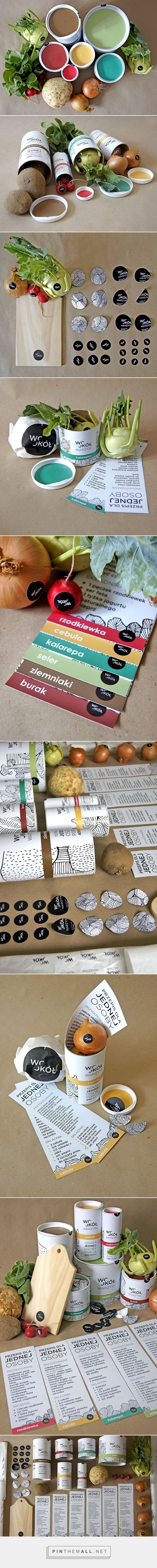 (a)round vegetables by Martyna Wędzicka on Behance curated by Packaging Diva PD. How  fun is this graduation project packaging for round vegetables.