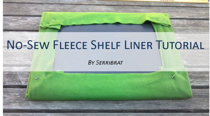 Diy Tutorial No Sew Fleece Shelf Liners Shelves No Sew