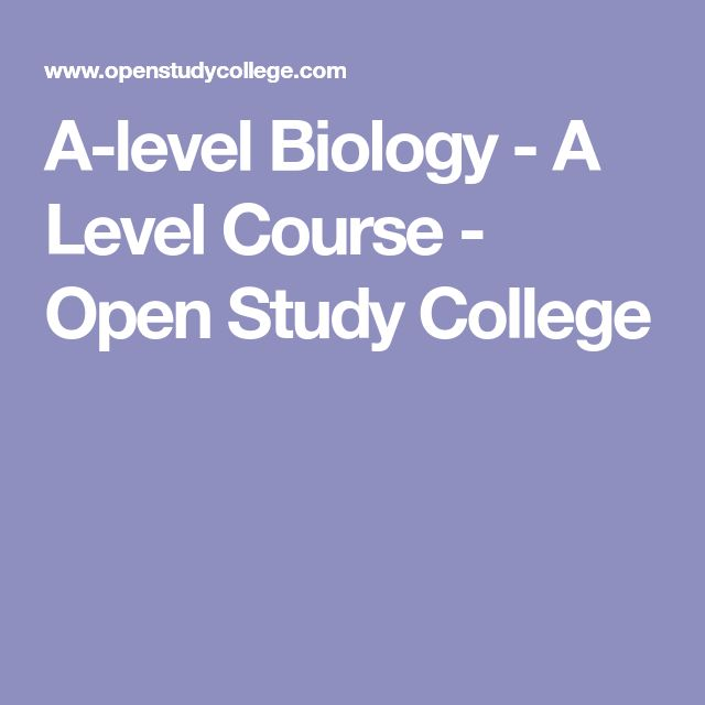 A-level Biology - A Level Course - Open Study College