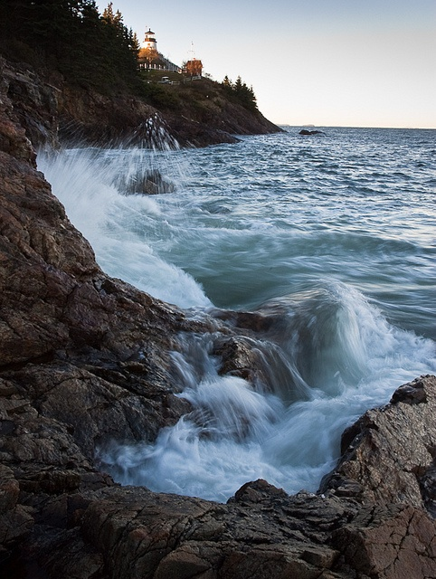 Crashing Waves on Owls Head Bay, Owls Head, Maine 8725 - John Bald