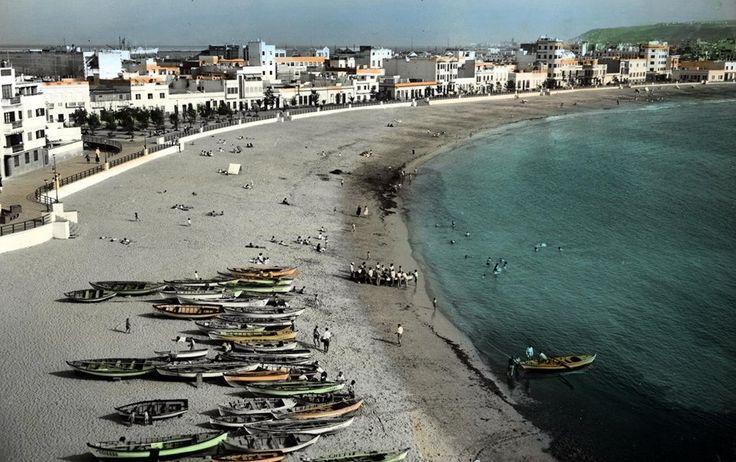 Playa de las Canteras 1955