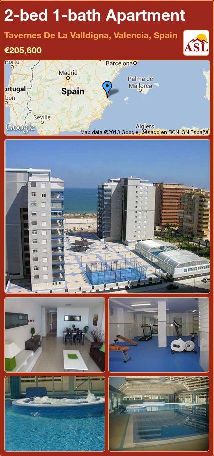 2-bed 1-bath Apartment in Tavernes De La Valldigna, Valencia, Spain ►€205,600 #PropertyForSaleInSpain