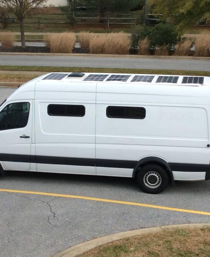 Mercedes Sprinter Stealth Van W Solar Panels 240ah Battery Bank Solar Van Solar Energy Solutions
