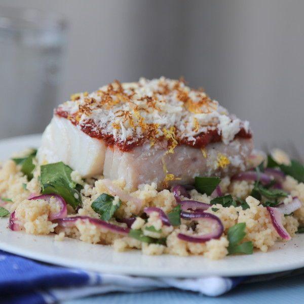 Spicy torsk med sitron og couscous