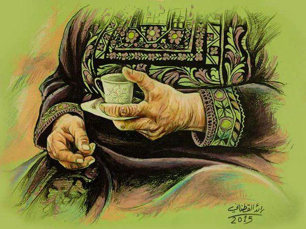 كل عام وامنا فلسطين بخير لوحه للفنان رائد قطناني