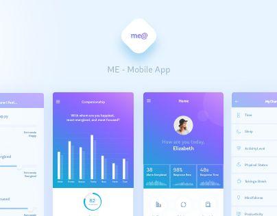 """다음 @Behance 프로젝트 확인: """"Me@ - Happiness and Wellbeing App"""" https://www.behance.net/gallery/44614857/Me-Happiness-and-Wellbeing-App"""