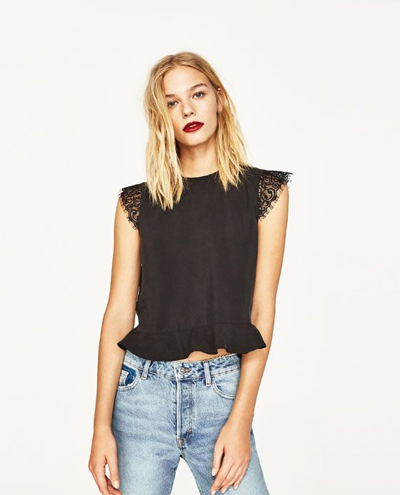 Image 2 of CROPPED TOP WITH OPEN BACK from Zara