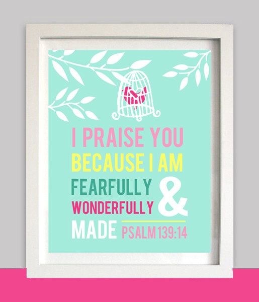 Bible Verse Quotes: Nursery Wall Art