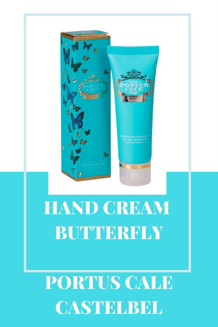 Hand Cream Butterfly Portus Cale Castelbel. Made in Portugal