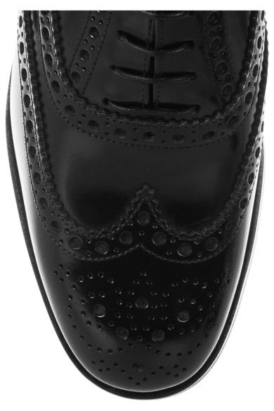 Church's - The Burwood Glossed-leather Brogues - Black - IT37.5