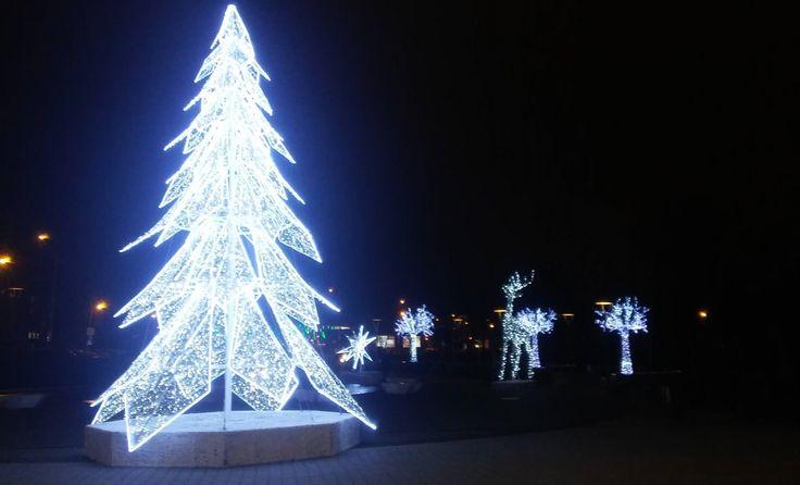 Oświetlenia świąteczne pod Cuprum Areną. | Lubin (Lower Silesia Voivodeship), Poland