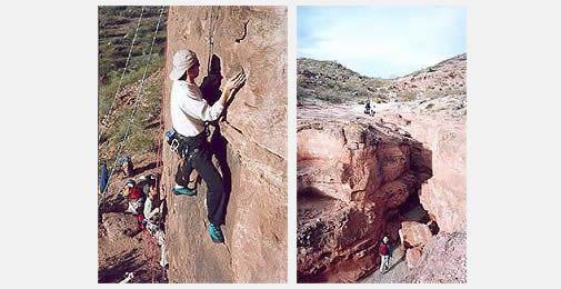 Deportes de aventura en General Roca - Paso Córdova - zona de bardas