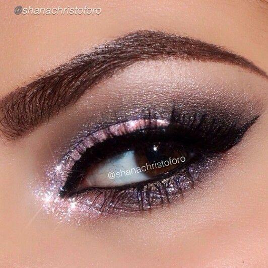 So pretty by @shanachristoforo using Motives liquid liner in Noir and Motives Lustrafy mascara! #motivescosmetics #makeup #beauty #glam #mua #eotd #glitter