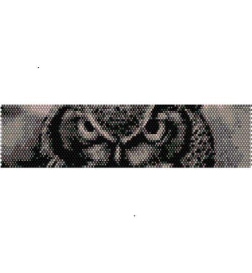 Schema peyote occhi di Gufo, per bracciale di AntosCreations su Etsy