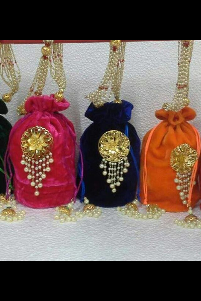 Indian purses/potli bags. I like the beaded handles on these. Celebrationsinabag@gmail.com