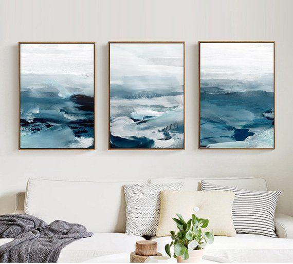3 Piece Oil Paint Seascape Canvas Wall Art Multiple Gift Canvas Print Art Framed Print Ready To Hang Bespoke Custom Size Canva Kunst Leinwand Design Kunstdruck