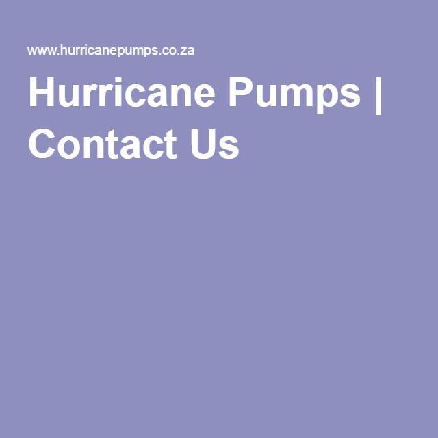 Hurricane Pumps | Contact Us