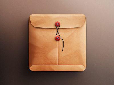 Envelope IOS icon by Ava Jan 18, 2013 via dribbble 901608