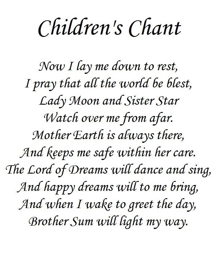 Children's Bed time Prayer