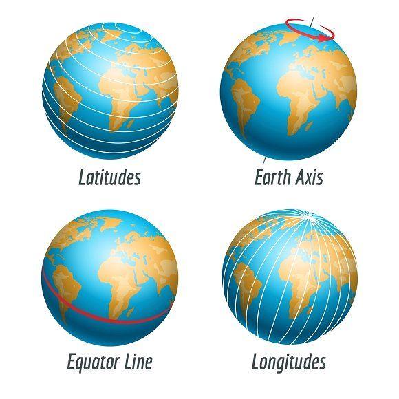 Latitude And Longitude Of Earth Earth Longitude Latitude