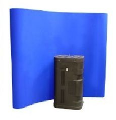 Blue Fabric Pop Up Displays: