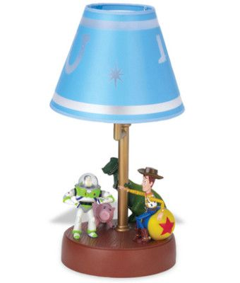 Love this lamp :) definetly an inspiration. For a girl could use BoPeep and Jessie and Mrs. Potato Head?
